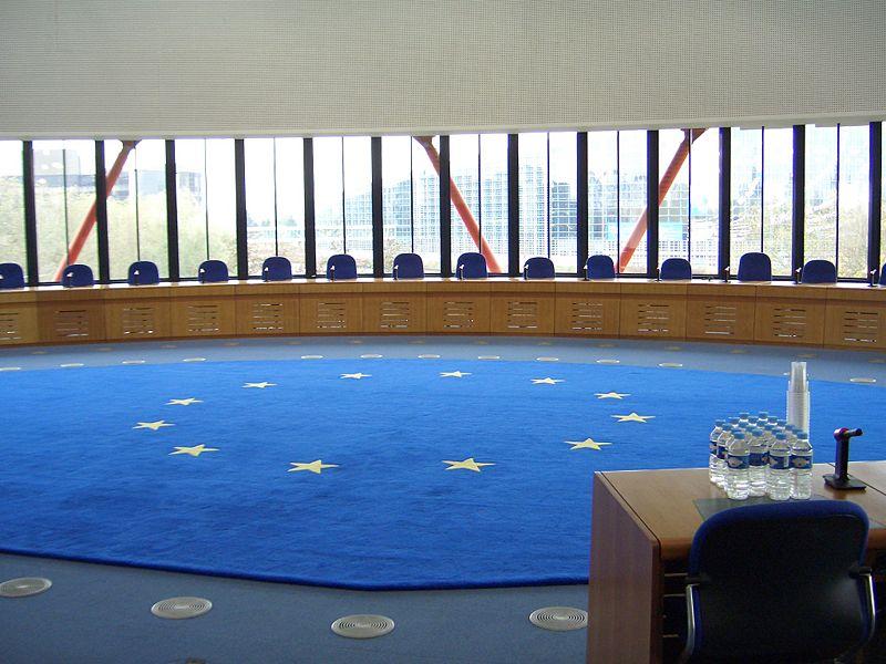 Místnost pro veřejná slyšení před Soudem. Zde zasedá Velký senát ESLP. Foto: archiv
