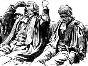 Soudce má soudit, nikoliv u soudu spát. Jinak nemůže činit spravedlnosti zadost. Foto: Duhaime.org