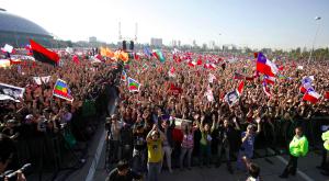 Takhle se v Chile demonstruje kvůli školství. Foto: Facebook