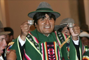 Morales dává práva přírodě a bere je lidem. Neměl by dostat Nobelovu cenu? Foto: Commentator