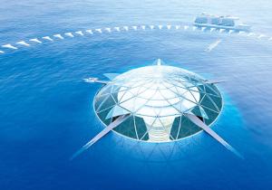 Tak nějak by mohlo vypadat podmořské město budoucnosti. Foto: Shimizu