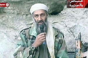 Usáma bin Ládin během jednoho ze svých populárních stand upů. Repro: Mirror.co.uk