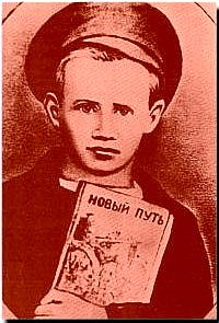 Pavlík Morozov je mimořádně odporný produkt bolševické propagandy. Svého otce udal úřadům coby kulaka, ten byl pak odeslán do Gulagu. Brutální vražda, kterou na Pavlíkovi v odvetě spáchali vesničané z Gerasimovky, zrodila nesnesitelný typus prosovětského hrdiny a mučedníka. Foto: Wikipedia