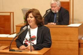 Vlasta Formánková během slyšení v Senátu Foto: Senát