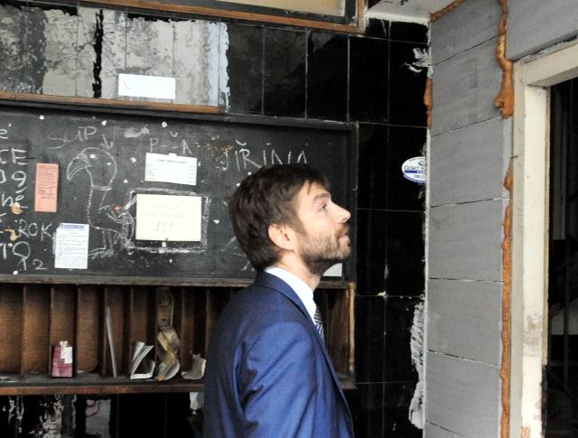 Ministr Pelikán při návštěvě věznice Foto: MSp