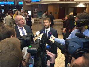 Ministr Pelikán po jednání v Bruselu Foto: MSp