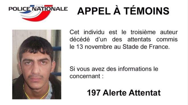 Terorista, který se odpálil u pařížského stadionu a který do Paříže dorazil z Řecka Foto: FP