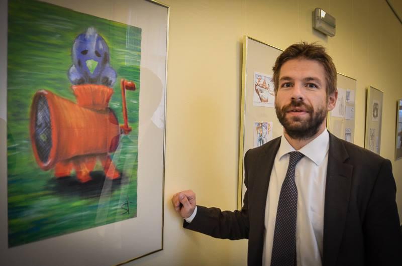 Ministr spravedlnosti Robert Pelikán na chodbě svého resortu Foto: MSp