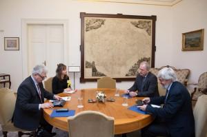 Schůzka trvala asi hodinu Foto: Senát
