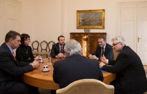 Jednání trvalo zhruba hodinu Foto: Senát PČR