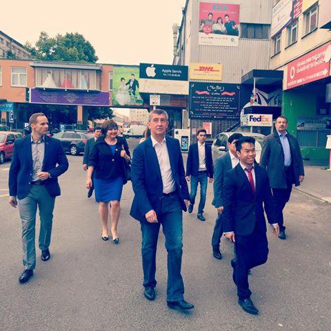Andrej Babiš navštívil kvůli EET centrum SAPA Foto: ANO