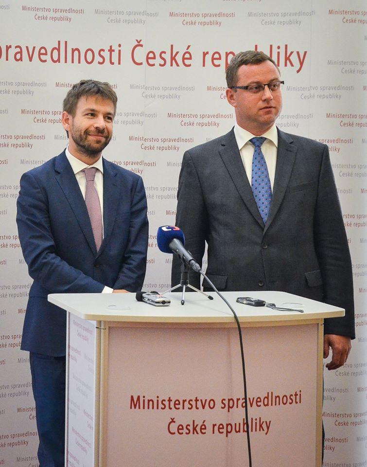 Ministr spravedlnosti Robert Pelikán a Nejvyšší státní zástupce Pavel Zeman Foto: MSp