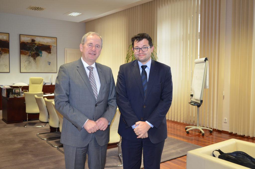 Ministr Jan Chvojka s předsedou NSS Josefem Baxou Foto: NSS